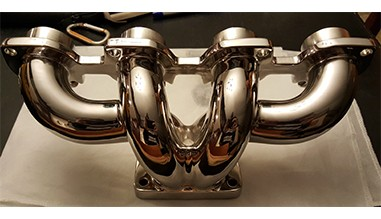 Polished Turbo Hayabusa Exhaust Manifold